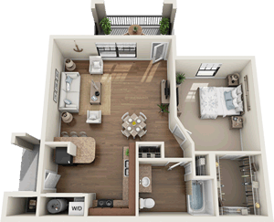 The Wakefield - One Bedroom / One Bath - 765 Sq. Ft.*